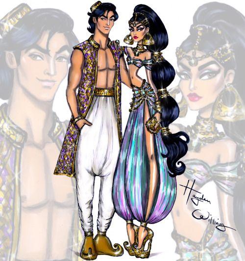 'Disney Darling Couples' by Hayden Williams: Aladdin & Jasmine 