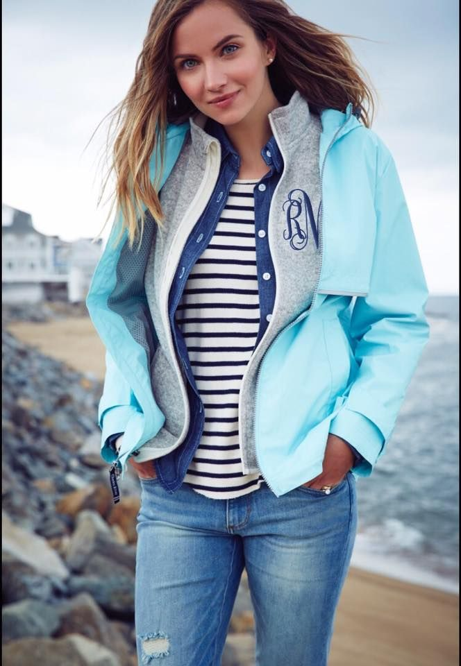 I ❤️my Charles River Rain Jacket!  Perfect for layering or as a lightweight jacket in spring.  Add a monogram and you have just created one of my favorite pieces in my wardrobe!  Shop  and create your own favorite jacket.  #monogram #monogrameverything #charlesriverapparel #newenglanderrainjacket #monogrammedrainjacket #layeritup #waterandwindproof #jacket #southerngirlthreads