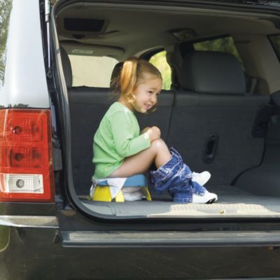 2-in-1 Portable Potty & Trainer Seat $17 - because it's better to be safe than sorry!