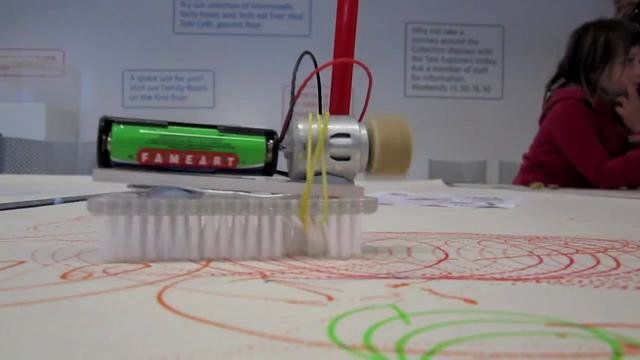 Build your own brushbot workshop at Tate Liverpool during the Big Draw 2010 http://www.tate.org.uk/families/events/liverpool/