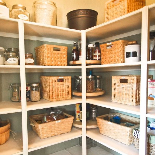 Commercial Lazy Susans are expensive, but you can easily make one yourself for half the cost! Adding Lazy Susans to your pantry instantly adds storage and utili…