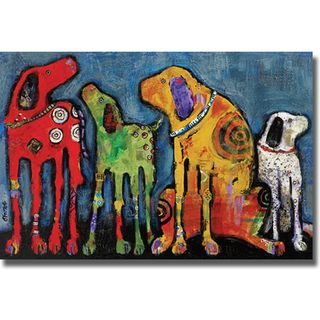 Jenny Foster 'Best Friends' Canvas Art | Overstock.com Shopping - Top Rated Canvas