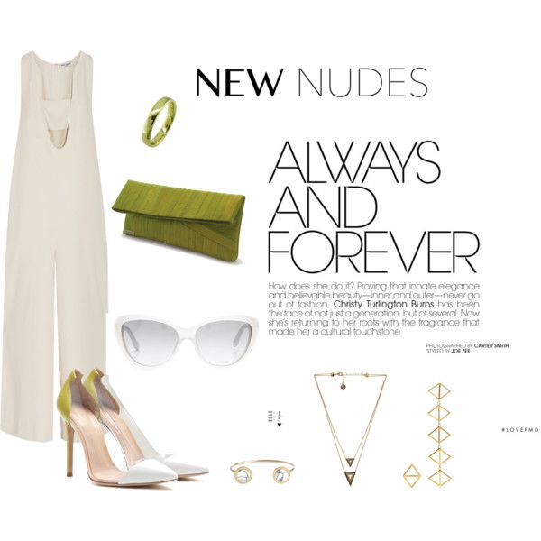 Nura by marnella on Polyvore featuring Opening Ceremony, Gianvito Rossi, Heidi Mottram, House of Harlow 1960, EWA, Arme De L'Amour, Carven and Marc by Marc Jacobs