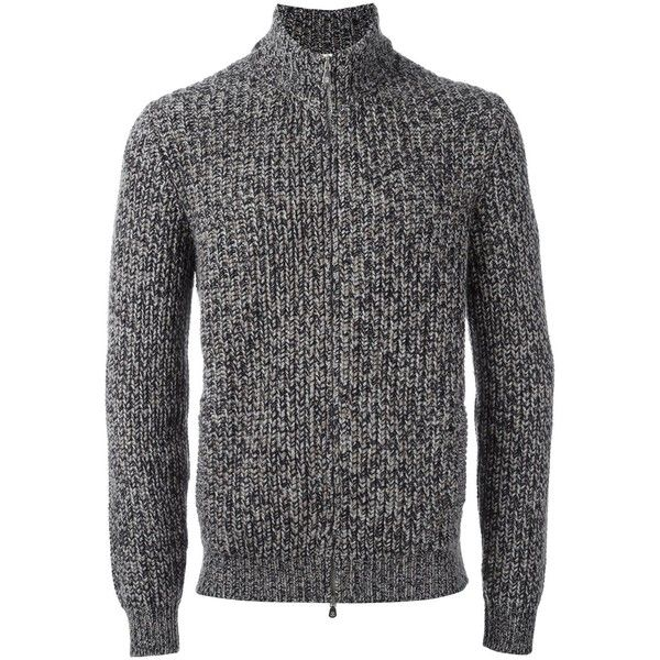 Brunello Cucinelli Cashmere Zipped Cardigan (126,090 INR) ❤ liked on Polyvore featuring men's fashion, men's clothing and men's sweaters
