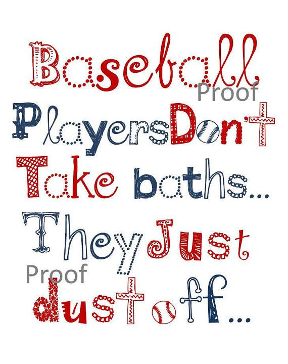 "Boy Art, Baseball wall art, 11x14"" print, for nursery, or playroom, or as a gift on Etsy, $25.00"