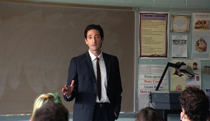 We'd study hard if Adrien Brody were our teacher too. DETACHMENT now available On Demand via cable and iTunes. http://detachment-film.com