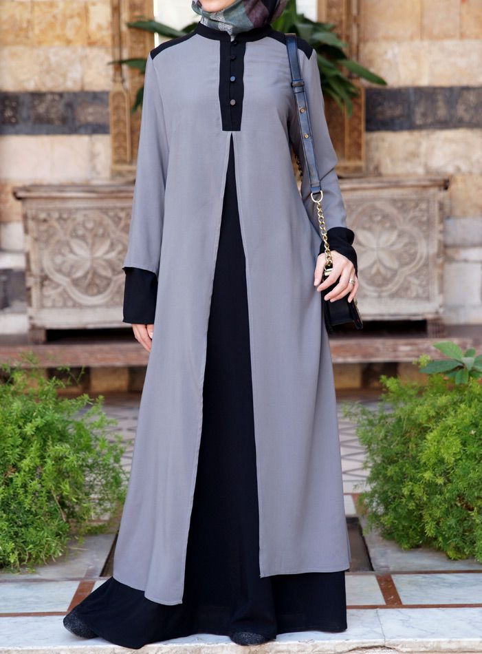 Double the fun with this Double Layer Abaya from Shukronline.comMore Pins Like This At FOSTERGINGER @ Pinterest