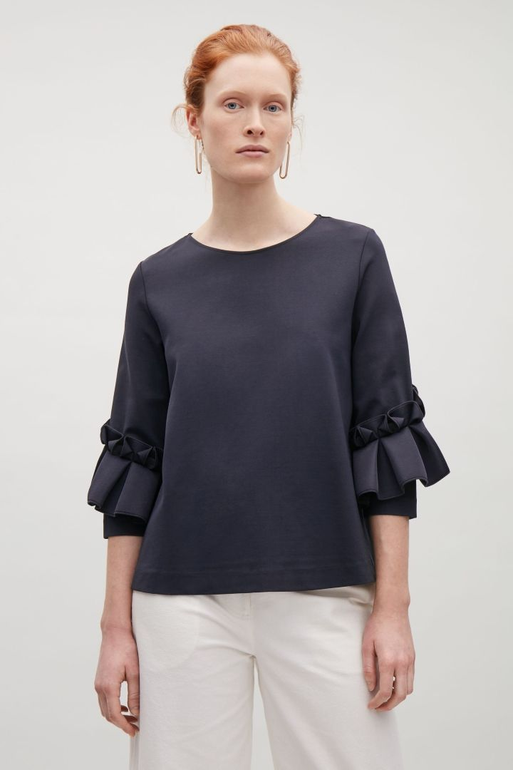 COS | Top with frill detailed sleeves
