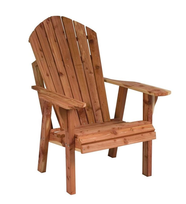 Amish Cedar Wood High Adirondack Chair Enjoy the maximum comfort of the Amish Cedar Wood High Adirondack chair at a slightly higher angle. Getting in and out of this outdoor chair is a cinch!