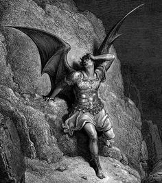 Gustave Doré, Depiction of Satan, the antagonist of John Milton's Paradise Lost c.1866.