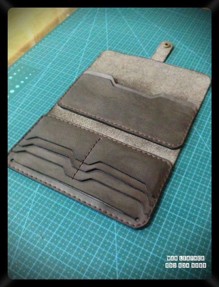handmade leather wallet-SR