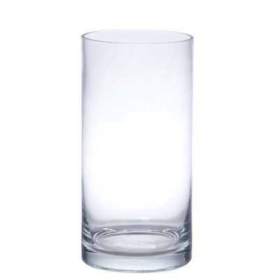 """14"""" x 6"""" Glass Cylinder Vase, Clear Glass Flower Vase - Wholesale Flowers and Supplies"""