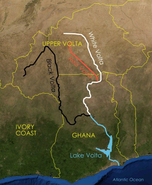 ボルタ川の色分け Volta river black white red descriptions ◆ブルキナファソ - Wikipedia https://ja.wikipedia.org/wiki/%E3%83%96%E3%83%AB%E3%82%AD%E3%83%8A%E3%83%95%E3%82%A1%E3%82%BD #Burkina_Faso