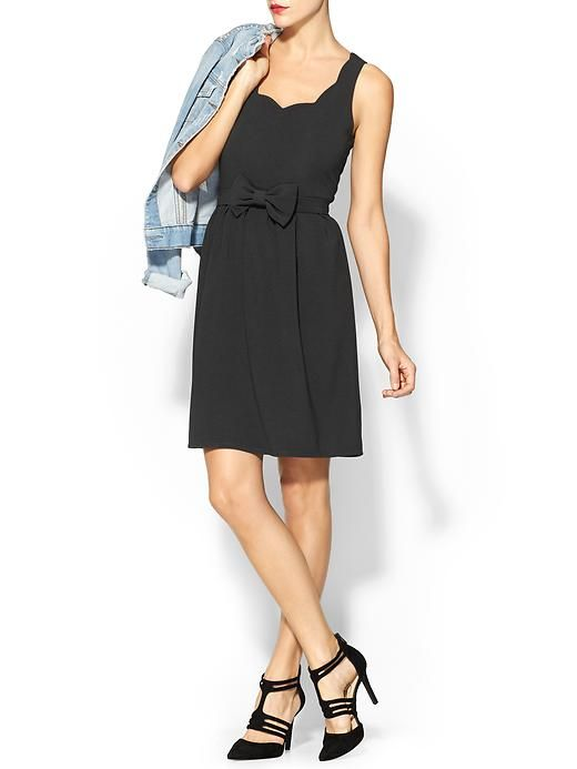 a chic, scalloped LBD