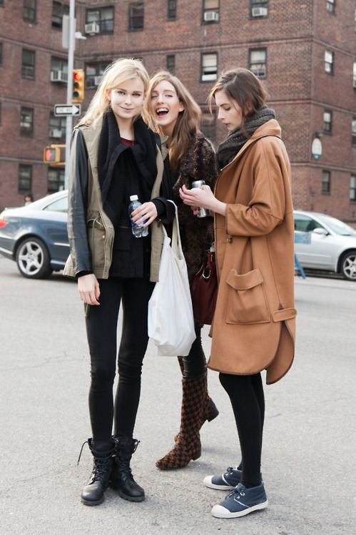 Fall...........: Models Off Duty, Fashion, Fall Style, Friends, Street Looks, Clothing, Fall Coats, Street Styles, Black Jeans