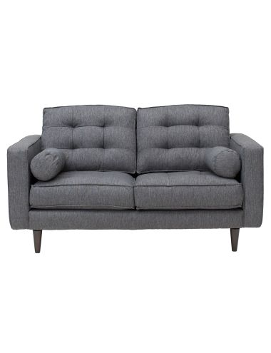 Bring retro style into your living area with the Hudson Two-seater sofa from the Bianco Home Collections range.