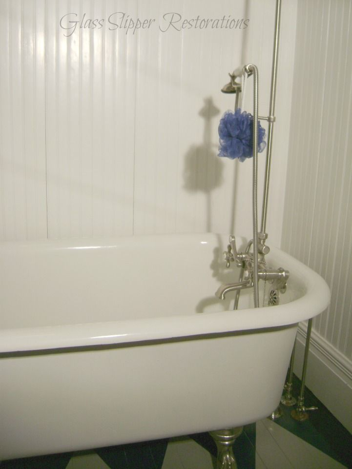 Original 1921 Clawfoot Tub With Shower Surround Made