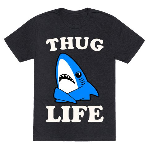 Thug Life Left Shark - There's nothing more gangster than not giving a fuck when everyone is watching. Show out like a true boss shark in this fun left shark inspired design.Get awkward and party hard like the left shark next time you go out on the town. In the wake of his recent performance everyone knows the left shark is the real mvp. So live like every week is shark week in this fun and trendy left shark design. Perfect for lovers of sharks and internet memes