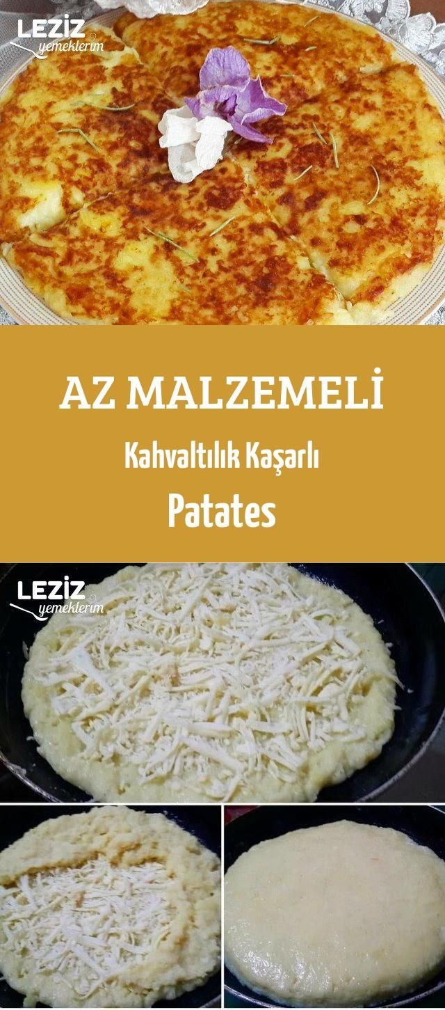 Az Malzemeli Kahvaltılık Kaşarlı Patates