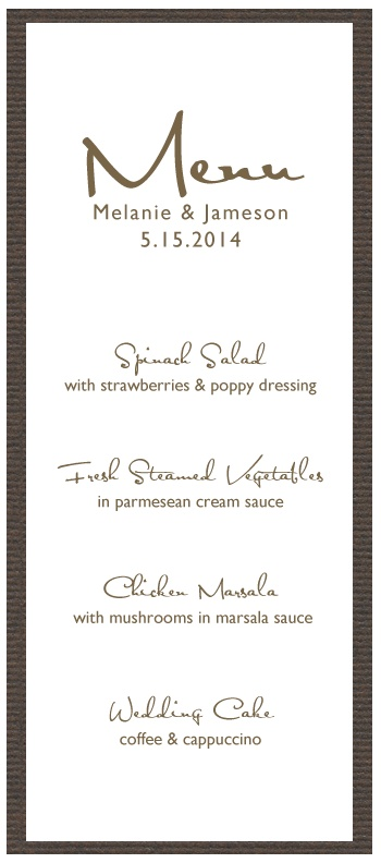 61 Best Menus Images On Pinterest | Wedding Menu Cards, Wedding