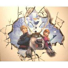 Stort Anna, Svein, Kristof og Olaf vegg-klistremerke fra Disney filmen FROZEN 6193 NYHET