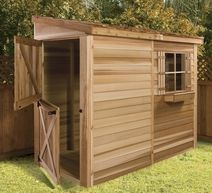 lean to garden shed