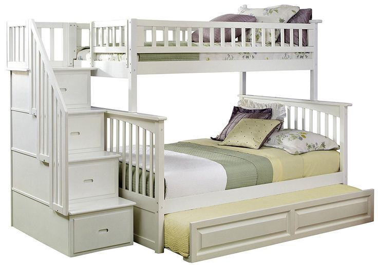 20+ White Bunk Beds with Stairs and Trundle - Interior Bedroom Design Furniture Check more at http://imagepoop.com/white-bunk-beds-with-stairs-and-trundle/