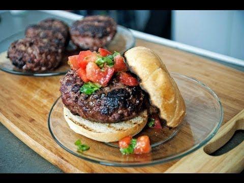 Mozzarella Basil Stuffed Hamburger Recipe - BBQGuys.com