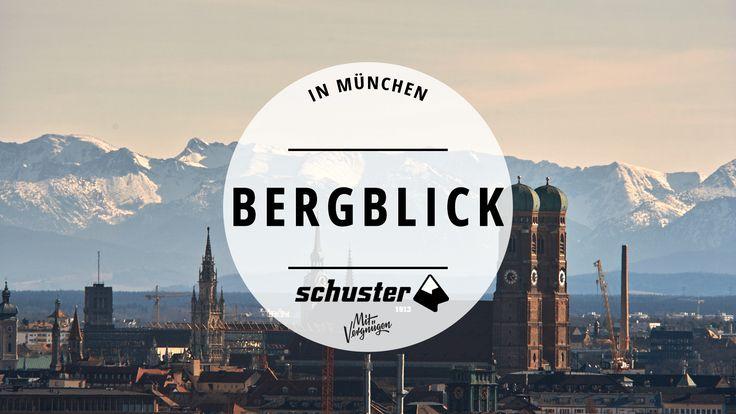 München und die Berge. Das ist eine besondere Liebesgeschichte. Wie gut, dass man nicht immer raus fahren muss, um den Blick auf die Alpen zu genießen.