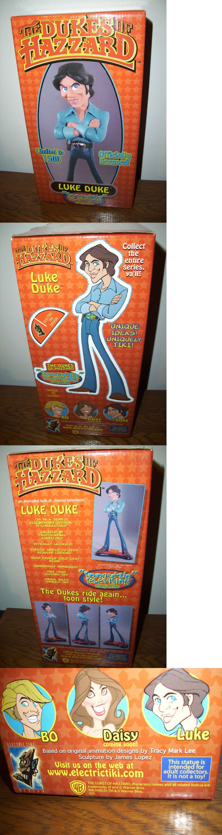 Dukes of Hazzard 20908: Rare Dukes Of Hazzard Luke Duke Electric Tiki Tooned Up Maquette Statue -New -> BUY IT NOW ONLY: $199.99 on eBay!