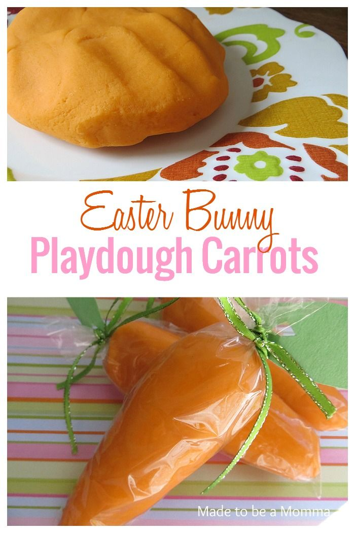 Easter Bunny Playdough Carrots - Made To Be A Momma