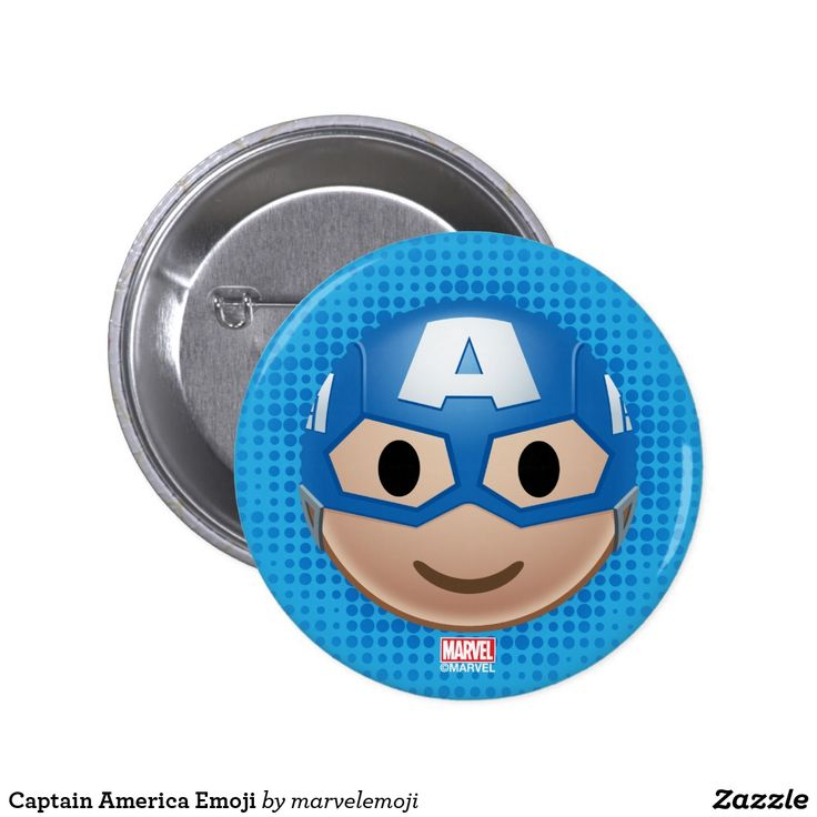 Captain America Emoji. Producto disponible en tienda Zazzle. Product available in Zazzle store. Regalos, Gifts. #chapa #button