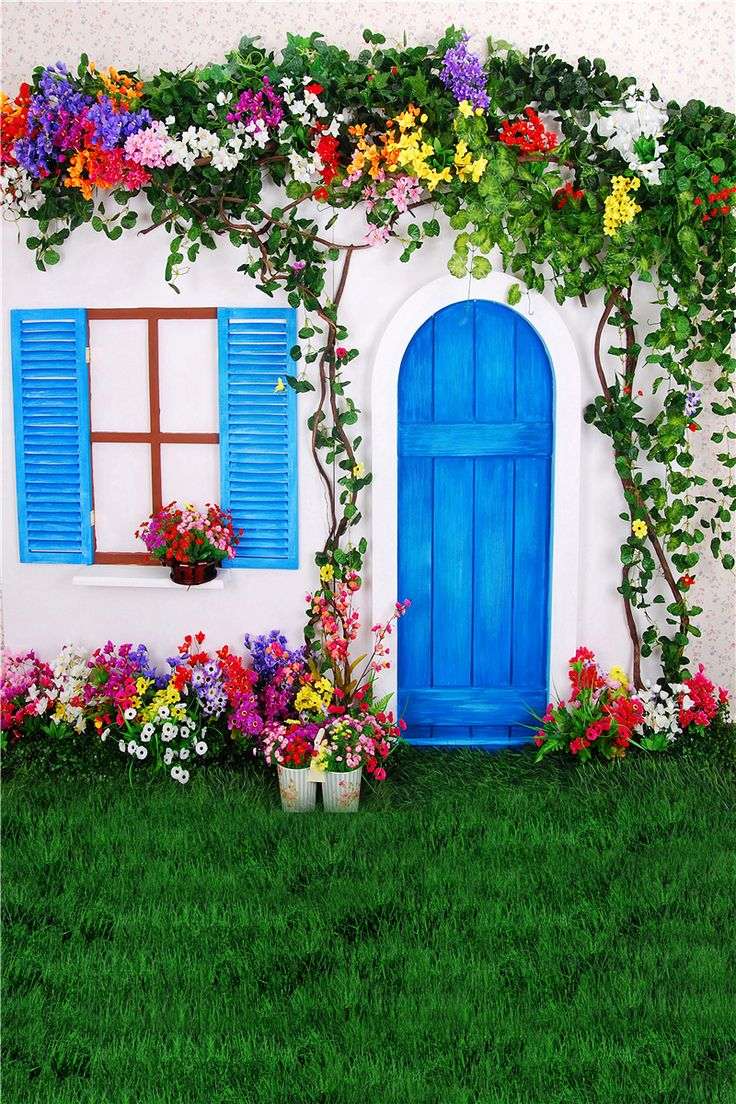 vinyl photography backdrops photo props  background 5x7ft Photo Studio wedding door window flower dream photography backdrops