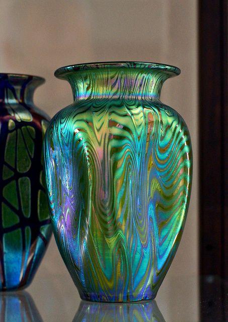 Art Nouveau Loetz Art Glass vase circa 1900