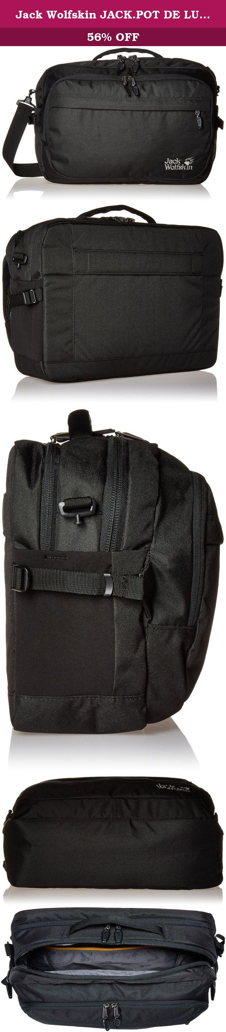 Jack Wolfskin JACK.POT DE LUXE Rucksack, Black, 20 L. Everything you need for the office. The jack.Pot de luxe bag is a practical business bag with plenty of stowage options and lots of practical features. It's particularly useful when you need to carry your electronic equipment with you. Tablet, laptop and accessories can all be stashed in compartments specifically designed for them. The laptop bag and accessories pouch are both padded and removable. Small items, a water bottle etc. Can…