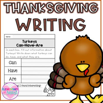 20 Printable Writing Pages and Graphic Organizers to get your kiddos ready to write about Thanksgiving!! Included: Thanksgiving KWL Graphic Organizer Chart All About Thanksgiving Writing Page- With Area for Picture All About Native Americans Graphic Organizer