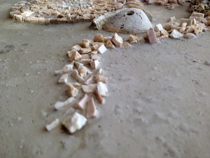 Details of 'Lunamare' Mosaic by Ilaria_ds Murble&seashells Italy