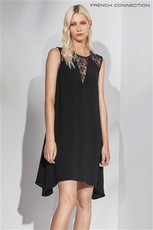 Buy French Connection Black Hennessy Sleeveless Dress from the Next UK online shop
