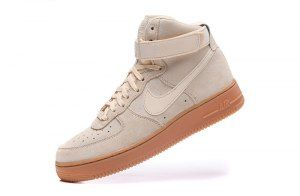 new style 81015 21a44 Mens Womens Nike Air Force 1 High LV8 AF1 Suede Muslin Gum Med Brown Ivory  AA1118 100 Running Shoes