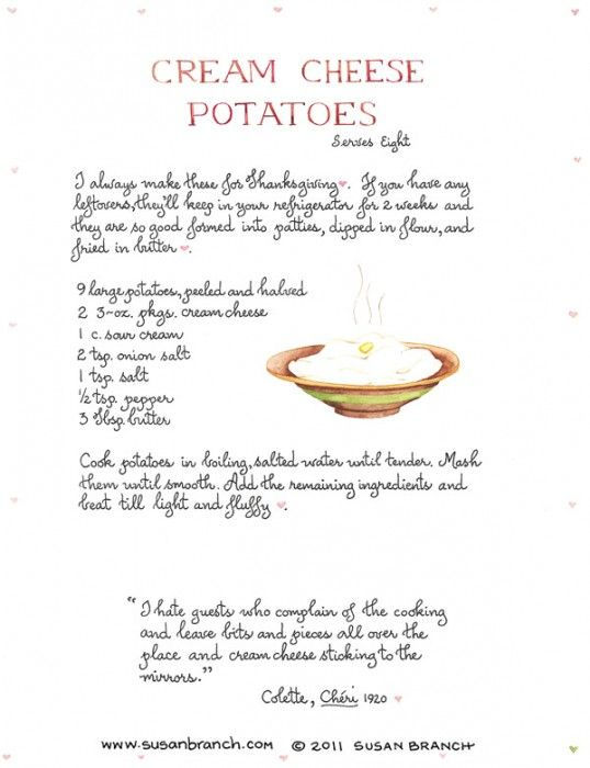 THE Best Cream Cheese Mashed Potatoes You'll Ever Eat (Susan Branch)-- this recipe is a tradition at my house!