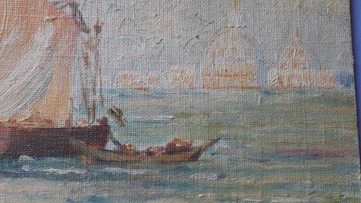 Artist Author Antique Ship Painting Chaffee Art USA Oil Maritime Easter Gift   #JohnWChaffee