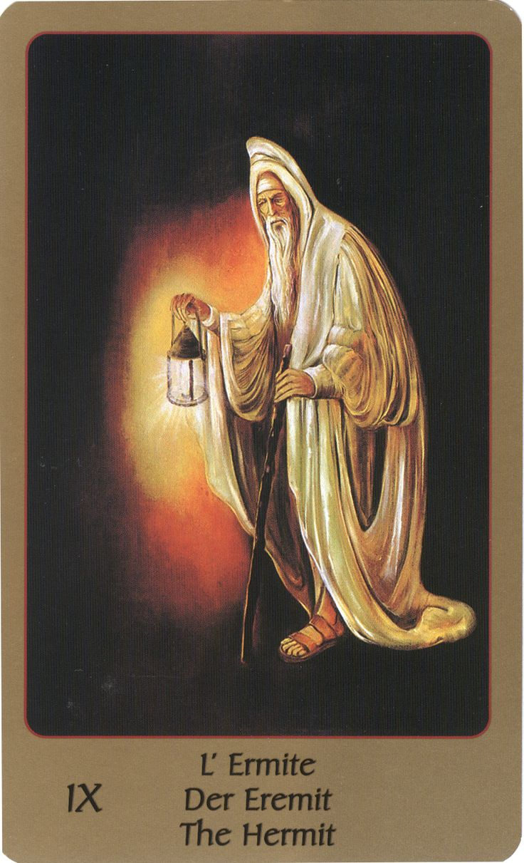 The Hermit Tarot Card Meaning In Readings Isolation: IX The Hermit On Pinterest