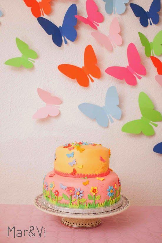 fiesta infantil temática de mariposas