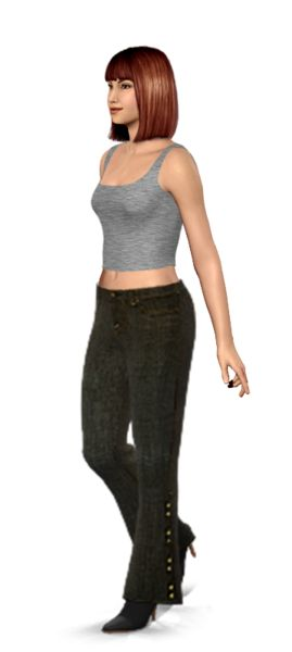 Check out the details on these jeans!! I tried them on my virtual model, then I shopped for them on eBay.
