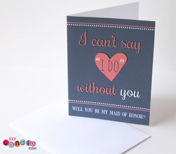 Will You Be My Bridesmaid Will You Be My Maid by RockCandieDesigns, $4.00