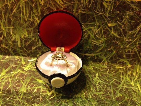 Pokeball Engagement Ring Box: Masterball option RING NOT