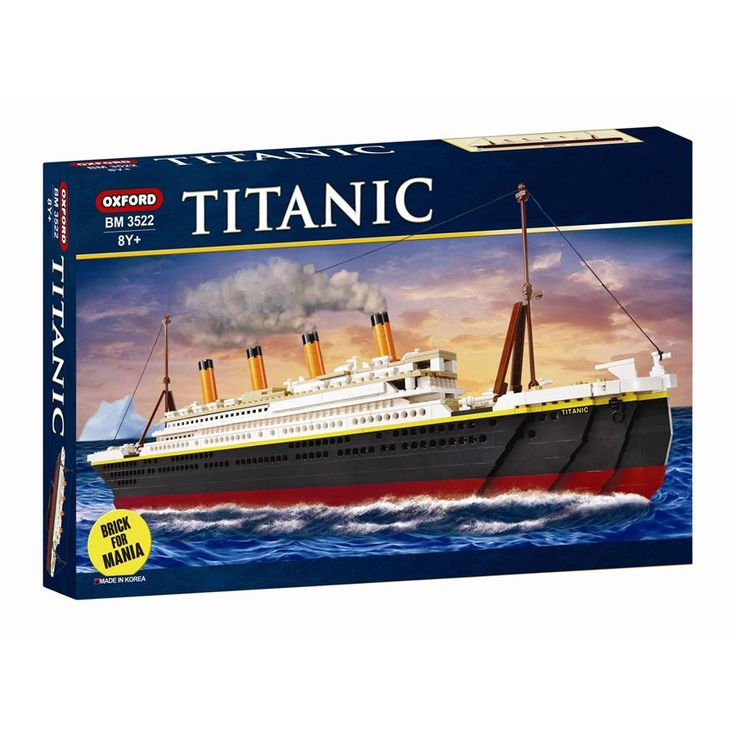907 piece Titanic construction block set Oxford Titanic Building Block Kit Assembly Blocks BM 3522 Box Size : 54 x 33 x 7.5 cm / Titanic Size : 68 cm Oxford Blocks are made in Korea and are well known for their quality and craftsmanship! Bricks are 100% compatible with ALL leading brands 8 yea