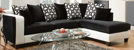 424124-02-SEC Ame Sectional with Left Arm Facing Sofa Right Arm Facing Chaise and Toss Pillows