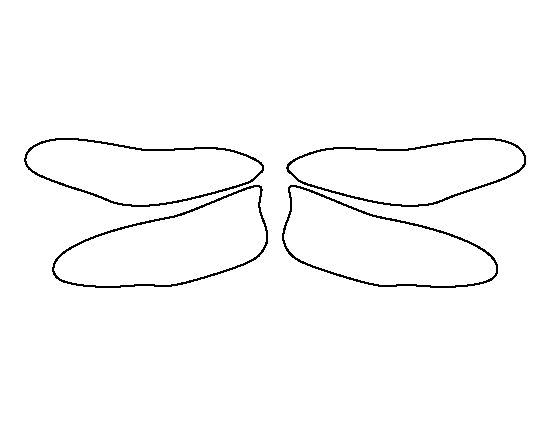Dragonfly wings pattern. Use the printable outline for ...