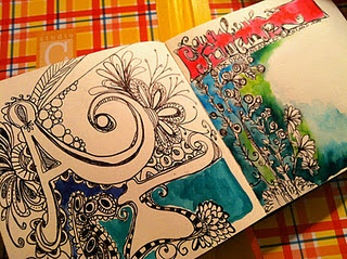 art journal doodles
